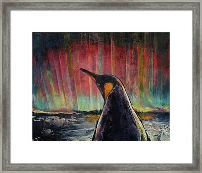 Penguin Framed Print by Michael Creese