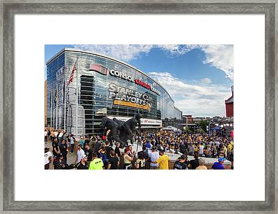 Penguins Stanley Cup Champions Framed Print by Emmanuel Panagiotakis