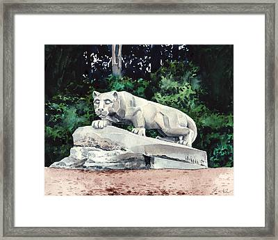 Penn State Nittany Lion Shrine University Happy Valley Joe Paterno Framed Print by Laura Row