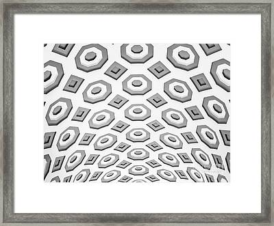 Penn State University Pattee Paterno Library Ceiling Framed Print by University Icons
