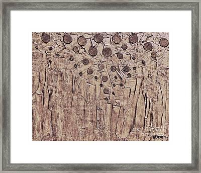 Pennies From Heaven Framed Print by Marsha Heiken