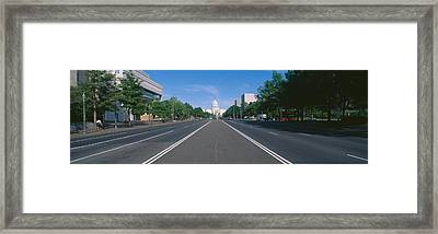 Pennsylvania Avenue, Washington Dc Framed Print by Panoramic Images