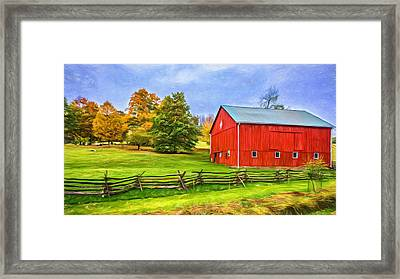 Pennsylvania Barn - Paint Framed Print by Steve Harrington