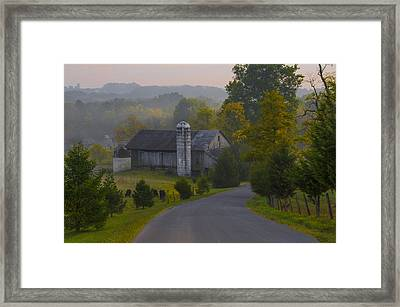 Pennsylvania Country Road Framed Print by Bill Cannon