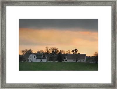 Pennsylvania Farm At Sunset Framed Print by Gordon Beck