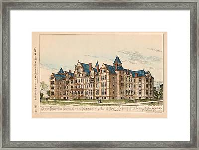Pennsylvania Institution For The Instruction Of The Deaf And Dumb. Pennsylvania. 1883 Framed Print by James Sheen