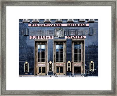 Pennsylvania Railroad Suburban Station Framed Print by Olivier Le Queinec