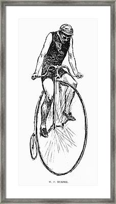 Penny Farthing Bicycle Framed Print by Granger