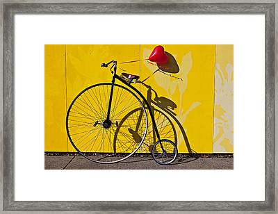 Penny Farthing Love Framed Print by Garry Gay