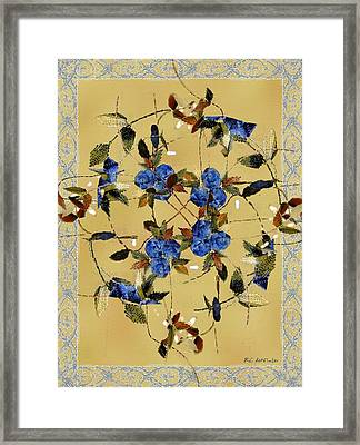 Penny Postcard Silk-stitched Framed Print by RC DeWinter