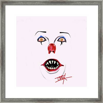 Pennywise The Clown Framed Print by Danielle LegacyArts