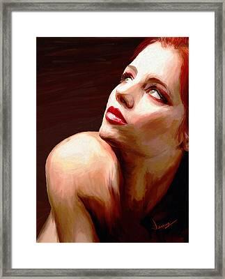 Pensive Framed Print by James Shepherd