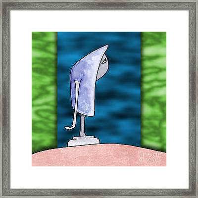 Pensive Framed Print by Uncle J's Monsters