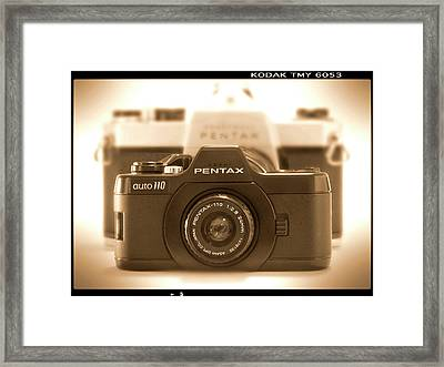 Pentax 110 Auto Framed Print by Mike McGlothlen