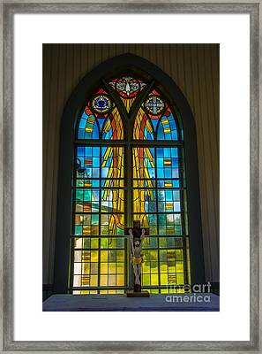 Pentecost Window Framed Print by Roberta Bragan