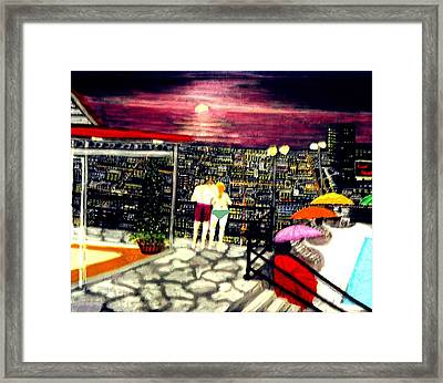 Penthouse View Framed Print by Larry E Lamb