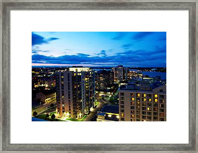 Penthouse View Framed Print by Paul Wash
