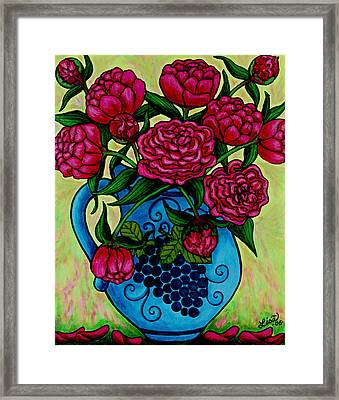 Peony Party Framed Print by Lisa  Lorenz