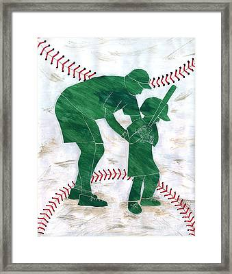 People At Work - The Little League Coach Framed Print by Lori Kingston