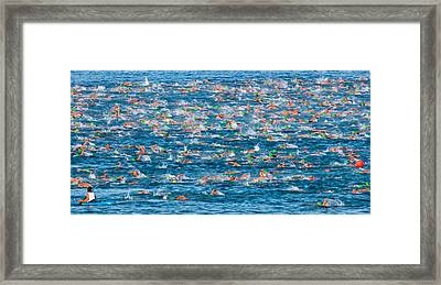 People Competing In The Ford Ironman Framed Print by Panoramic Images
