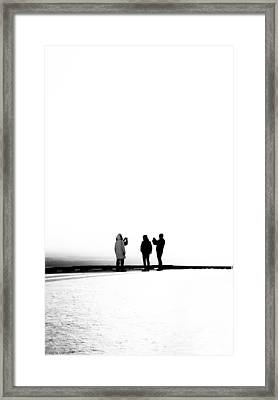 People Lost In Winter Snow And Time Framed Print by John Williams
