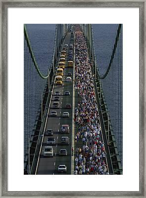 People Participating In The Annual Framed Print by Phil Schermeister