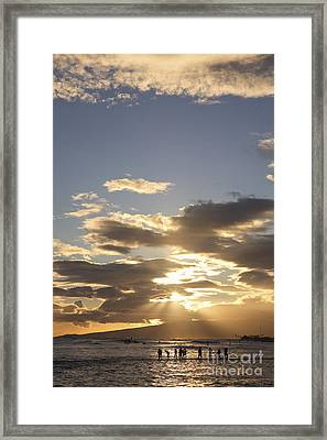People Silhouette Sunset Framed Print by Brandon Tabiolo - Printscapes