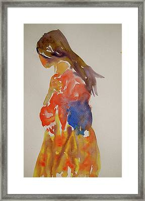 People Turned Away Framed Print by Beverley Harper Tinsley
