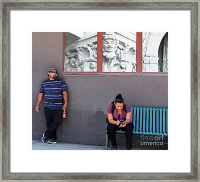 People Watching Framed Print by Joe Jake Pratt