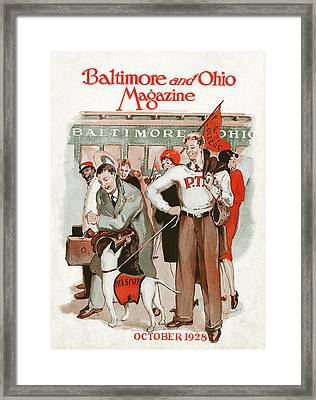 Pep Rally Framed Print by Virginia Louise Moberly