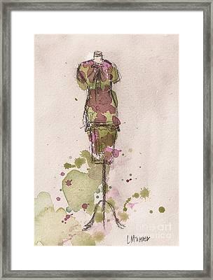 Peplum Dress Framed Print by Lauren Maurer