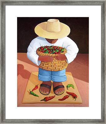 Pepper Boy Framed Print by Lance Headlee