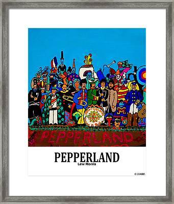 Pepperland Framed Print by Lew Morris