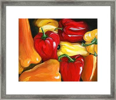 Peppers Framed Print by Karyn Robinson