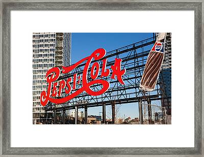 Pepsi-cola Sign I Framed Print by Clarence Holmes