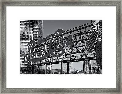 Pepsi-cola Sign II Framed Print by Clarence Holmes