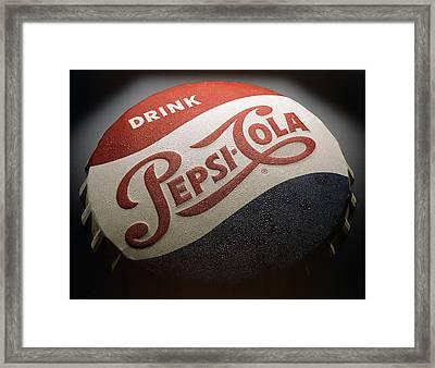 Pepsi Sign Framed Print by Bob Nardi