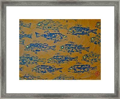 Perch School On Sienn Unryu Paper Framed Print by Jeffrey Canha