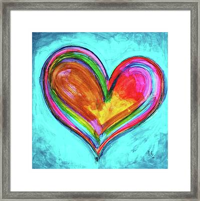Perfect Love Framed Print by Ivan Guaderrama