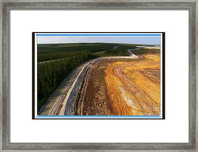 Perfect Poster Of An Ugly Polluted Landscape Of North America Read Canada Framed Print by Navin Joshi