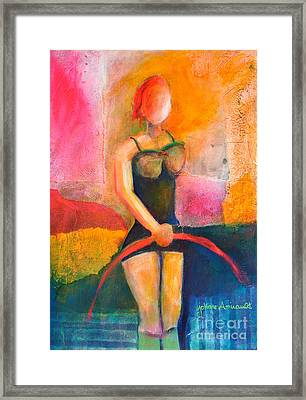 Performing Framed Print by Johane Amirault