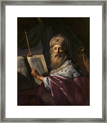 Periander The Tyrant Of Corinth Framed Print by Paulus Moreelse