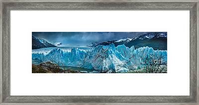 Perito Moreno Panorama Framed Print by Inge Johnsson
