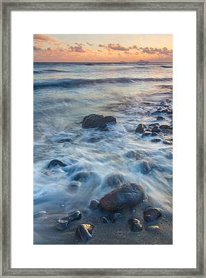 Perivolos Beach Sunset Framed Print by Anthony Mitchell