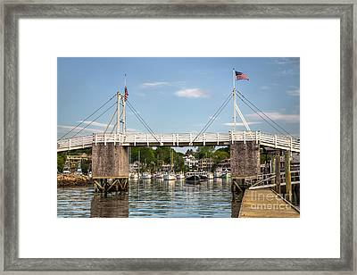 Perkins Cove Bridge Framed Print by Benjamin Williamson