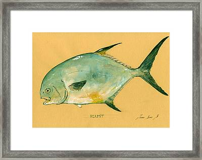 Permit Fish Framed Print by Juan  Bosco