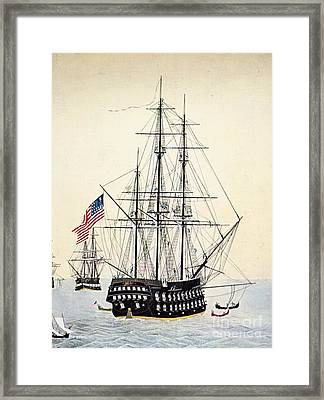 Perrys Expedition To Japan Framed Print by Granger