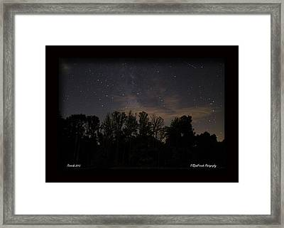 Perseid Meteor In Milky Way Framed Print by PJQandFriends Photography