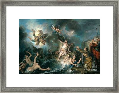 Perseus Rescuing Andromeda Framed Print by Charles Antoine Coypel