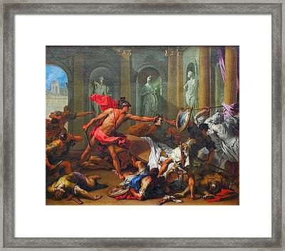 Perseus With The Head Of Medusa Framed Print by MotionAge Designs